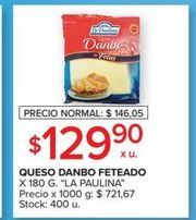 Oferta de Queso en fetas La paulina 180g por $129,9