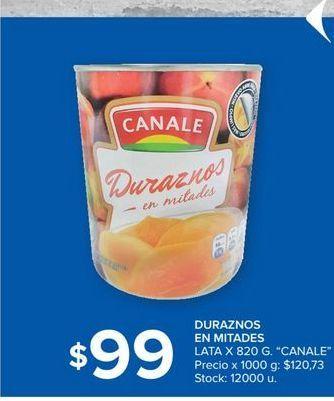 Oferta de Duraznos en mitades lata 820gr por $99