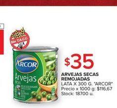 Oferta de Arvejas Arcor 300g  por $35