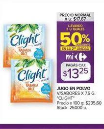 Oferta de Jugo en polvo Clight por $13,25