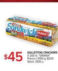 Oferta de Galletas Cracker 200g GRANIX  por $45