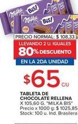 Oferta de Tableta de chocolate rellena MILKA  por $65