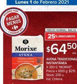 Oferta de Avena tradicional 300g Morixe por $64,5
