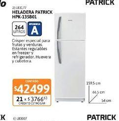 Oferta de Heladeras Patrick por $42499