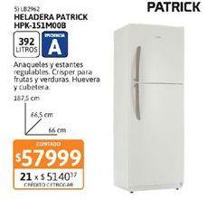 Oferta de Heladeras Patrick por $57999
