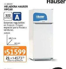 Oferta de Heladeras Hauser por $51599