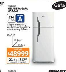 Oferta de Heladeras Gafa por $48999