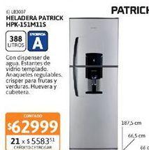 Oferta de Heladeras Patrick por $62999