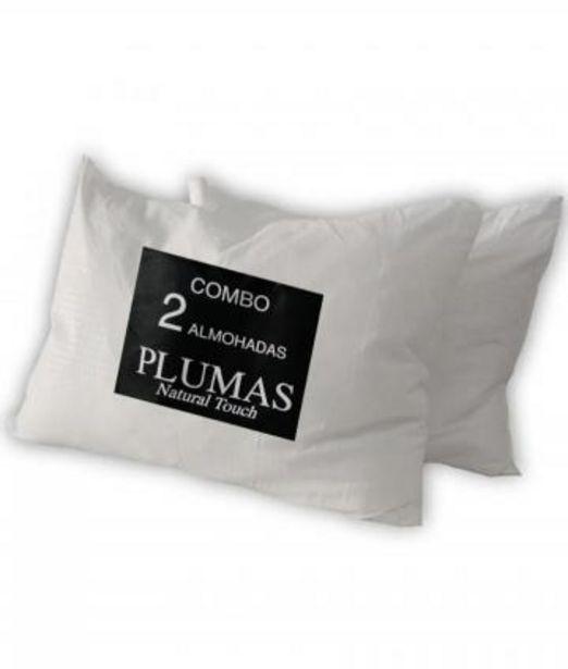 Oferta de ALMOHADA PLUMAS COMBO X 2 MEDIDA 70X50 por $4099