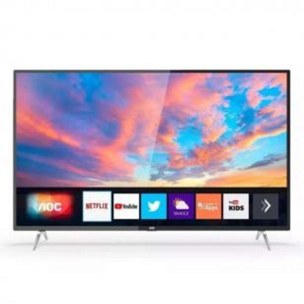 Oferta de Smart Tv 50 Pulgadas 4k Uhd Aoc Netflix Youtube por $54999