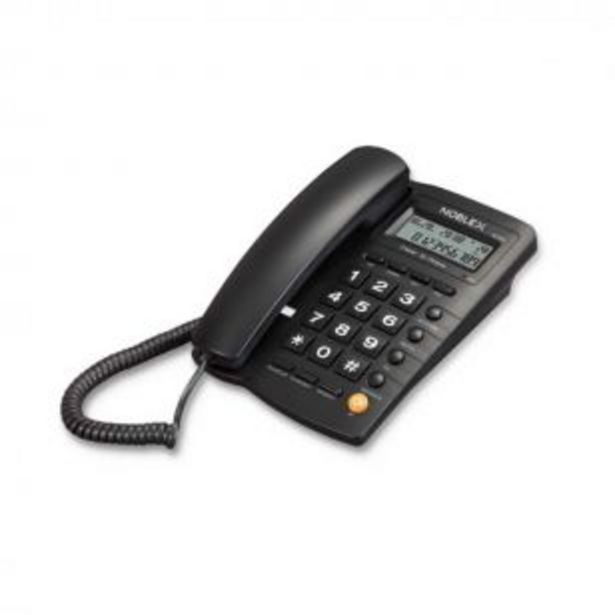 Oferta de Teléfono Noblex NCT300 Alambrico con cable y display por $2799