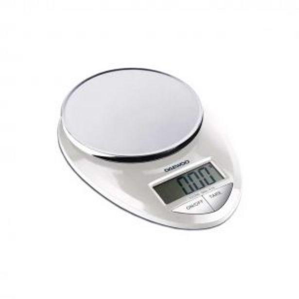 Oferta de Balanza de Cocina Digital Daewoo Ks7250 3 Kg por $3299