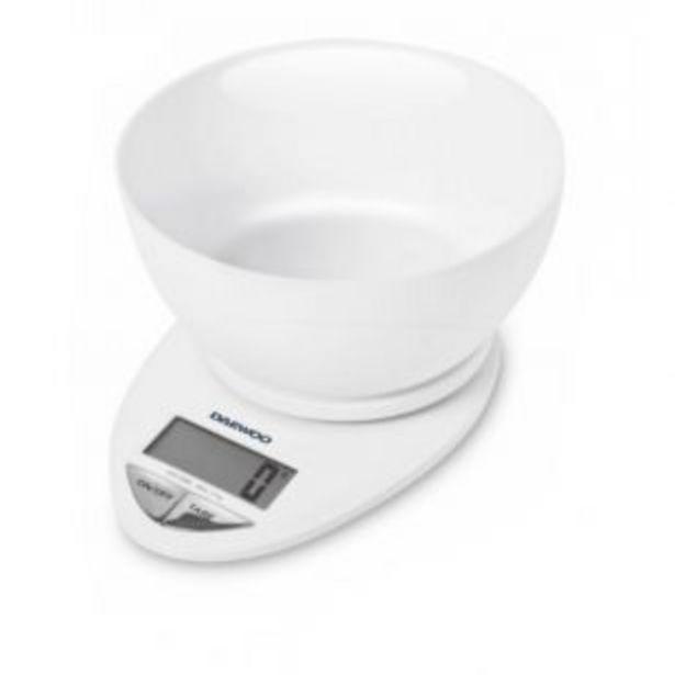 Oferta de Balanza Cocina Daewoo Ks7150 Digital C/bowl 3kg por $3399