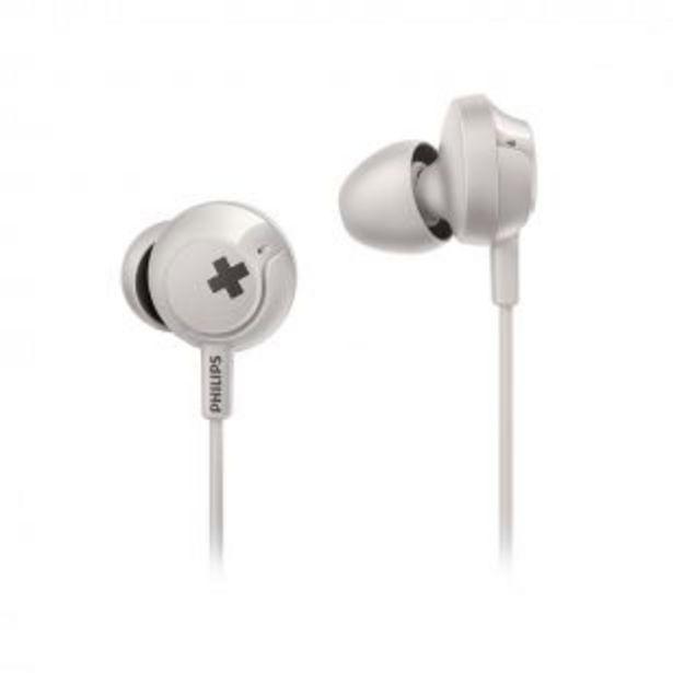 Oferta de Auriculares con Micrófono In Ear Philips SHE4305WT/00 Bass++ por $1199