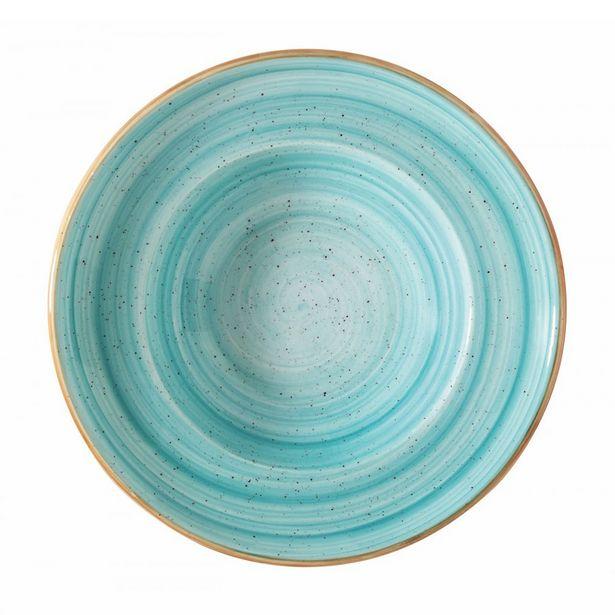 Oferta de Plato hondo Aqua de porcelana - ø27 cm por $6820