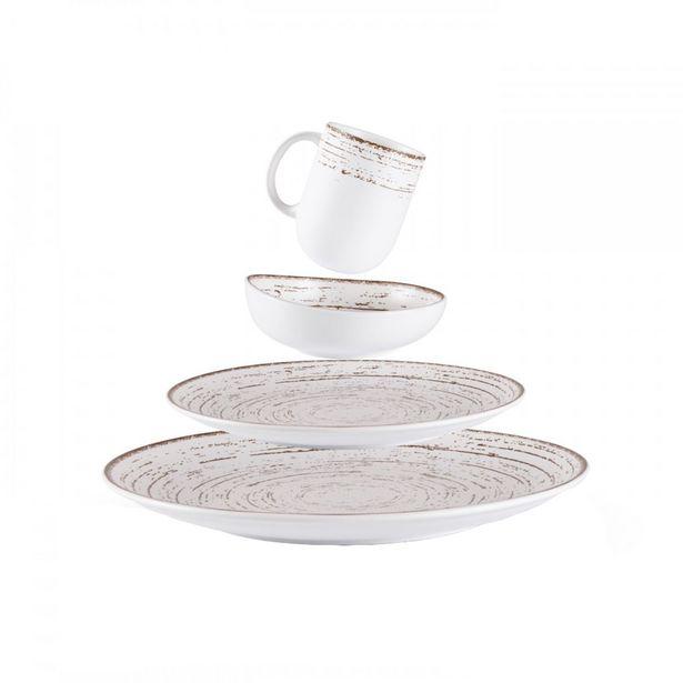 Oferta de Set de vajilla de porcelana Tornado - 16 piezas por $33074,13
