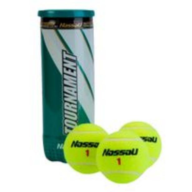 Oferta de Pelotas Tennis Nassau Tubo X 3 Tournament ITF por $1565