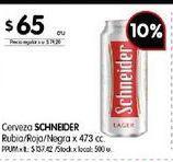 Oferta de Cerveza Schneider por