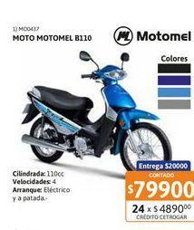 Oferta de Motoc Motomel B110 /// ONE RY Base por $79900