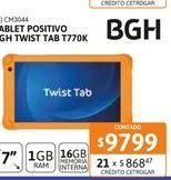 Oferta de Tab Posit BGH Twist Tab T770K 1-16GB por $9799