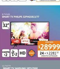 Oferta de Tv Led 32 Philips 32PHG5813/77 HD Smart por $28999