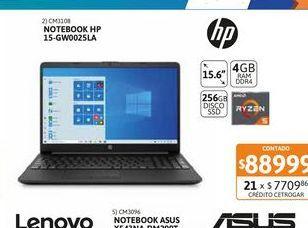 "Oferta de Not HP 15-gw0025la 15,6"" R5 4GB-256GBSSD por $88999"