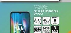 """Oferta de Cel Lib Moto G9 Play 6,5"""" 4/64 48MP Azul por $27999"""