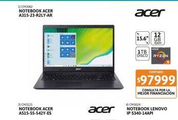 """Oferta de Not Acer A315-23-R2LY-AR 15,6"""" 12GB-1TB por $97999"""