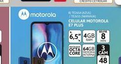 """Oferta de Cel Lib Moto E7 Plus 6,5"""" 4/64 48MP Azul por $24999"""