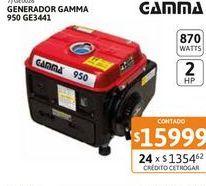 Oferta de Generador Gamma 950 GE3441 2hp 870w por $15999