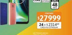 "Oferta de Cel Lib Moto G9 Play 6,5"" 4/64 48MP Rosa por $27999"