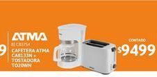 Oferta de Cafet Atma CA8133N Bca+Tosta TO20WN por $9499