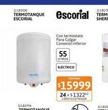 Oferta de Termot Escorial Elect Col 55L c.inf por $15999