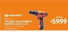 Oferta de Taladro Inal Daewoo 12V DACD 1210 por $5999