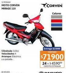 Oferta de Motoc Corven Mirage 110 By Corven // RY por $71900