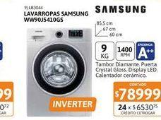 Oferta de Lavarr Samsung WW90J5410GS 9Kg CF 1400rpm Pl por $78999