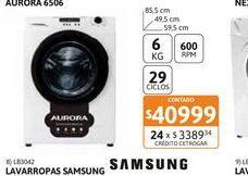 Oferta de Lavarr Aurora 6506 6kg 600 r.p.m por $40999