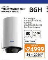 Oferta de Termot BGH Electr Col BTE-080CM15EC 80Lt por $24999