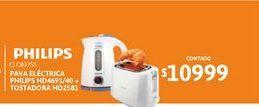 Oferta de Pava Elect Phili HD4691/40+Tosta HD2581 por $10999
