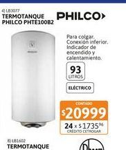 Oferta de Termot Philco Elec Col 93L PHTE100B2 por $20999