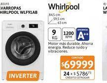 Oferta de Lavarr Whirlpool WLF91AB 9kgCF Bco 1200RPM INV por $69999