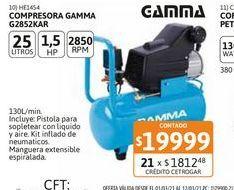 Oferta de Compres Gamma 25lts c/kit 1.5HP G2852KAR por $19999