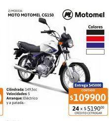 Oferta de Motoc Motomel CG150 S2 c/Arr RY-Nac por $109900