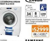 Oferta de Lavarr Drean NEXT 8.12 eco 8K 1200rpm CF por $52999
