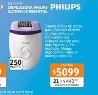Oferta de Depilad Philips BRE225 Satinelle Essenti por $5099