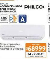 Oferta de Acon Spl Philco 5200WFC EA PHS50HA4CN por $68999