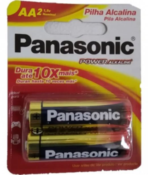 Oferta de Pilas Panasonic AA Alcalinas por $161