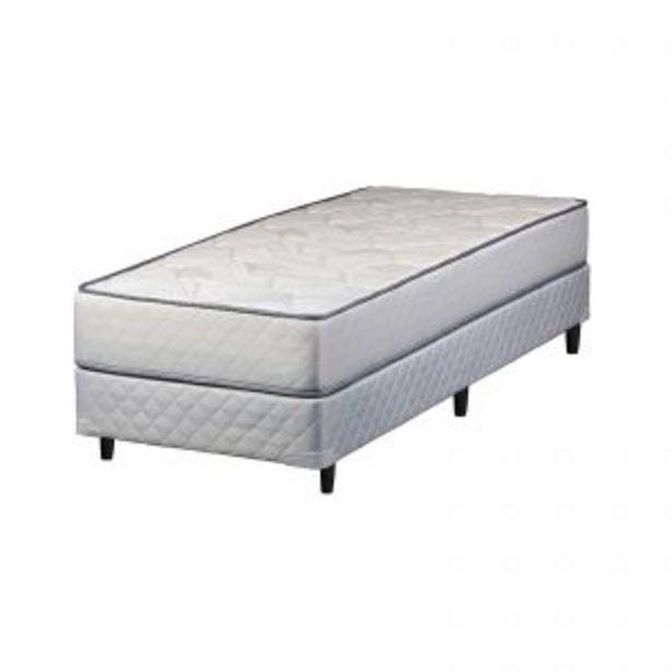 Oferta de Sommier y colchón 1 plaza y media (090x190x24) Telgo Amor Resorte Pocket por $52599