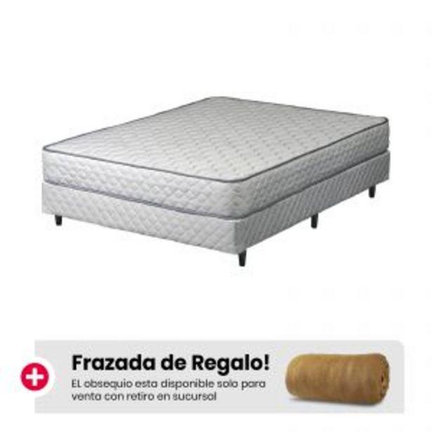 Oferta de Combo Juego Telgo Luz (140x190x20) + Frazada Oro De Regalo por $53499