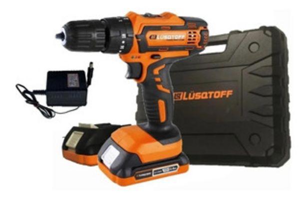 Oferta de Taladro A Bateria Con Percutor 18 V Lusqtoff 2 Baterías Mm por $16999